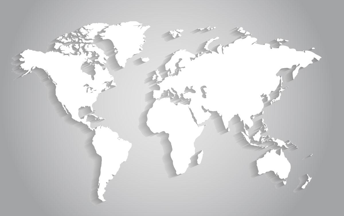 Spedizioni naturalistiche wba onlus for Mappa mondo bianco e nero